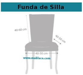 Funda de Silla con respaldo Danubio