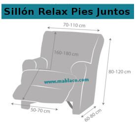 Medida Funda Sillón Relax Pies Juntos Teide