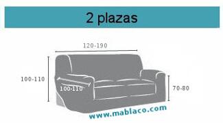 Medida funda de sofa 2 plazas