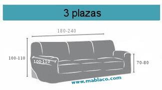 Medida funda de sofa 3 plazas