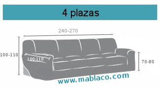 Medida funda de sofá 4 plazas