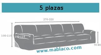 Medida funda de sofa 5 plazas