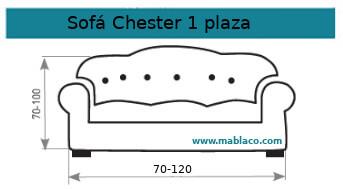 Funda Sofá Chester 1 plaza