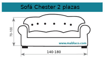 Funda Sofá Chester 2 plazas