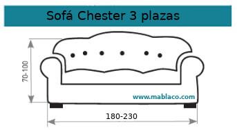 Funda Sofá Chester 3 plazas