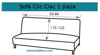 Funda Sofá Clic Clac 1 plaza