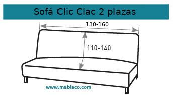 Funda Sofá Clic Clac 2 plazas