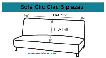 Funda Sofá Clic Clac 3 plazas