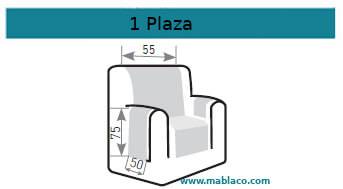 Medida Cubre Sofá 1 plaza