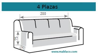 Medida Cubre Sofá 4 plazas