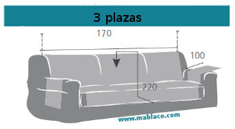 Medida Cubre Sofá 3 plazas