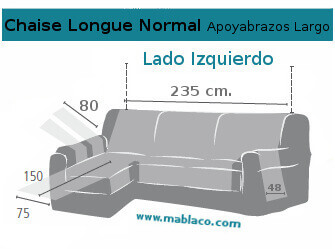 Medida Chaise Longue Normal