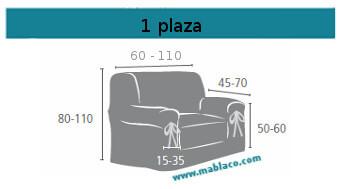 Medida Funda Sofá Lazos 1 plaza