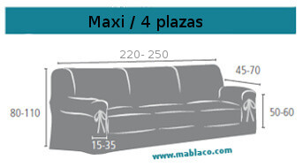 Medida Funda Sofá Lazos Maxi o 4 plazas